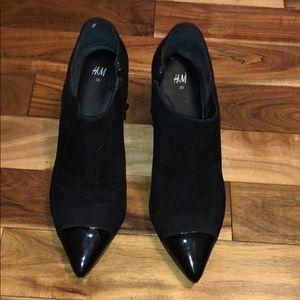 H&M black bootie heels.